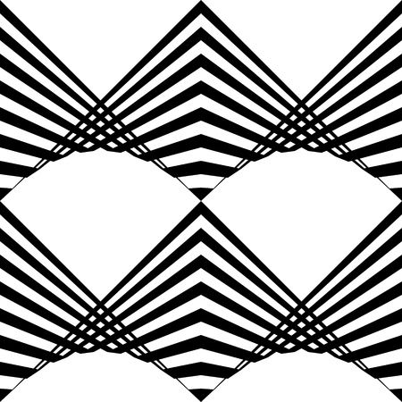 ZigZag Pattern. Abstract  Black and White Background. Vector Regular Texture