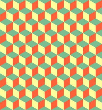 Würfelmuster . Abstrakter minimalistischer Hintergrund Hintergrund . Vector regelmäßige geometrische Textur