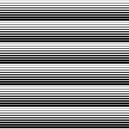 Seamless Stripe and Line Pattern. Vector Black and White Texture. Miniaml Graphic Design