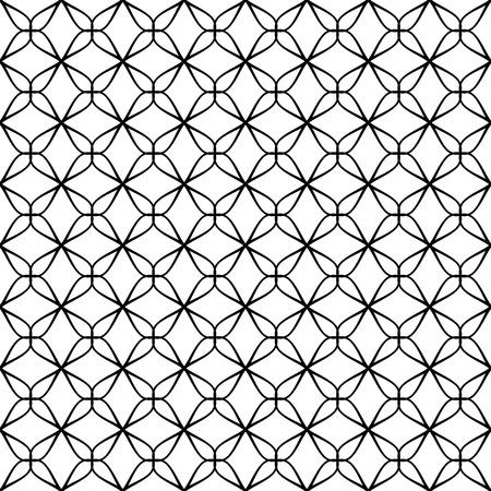 on white: Seamless Grid Pattern. Vector Black and White Background. Regular Texture Illustration