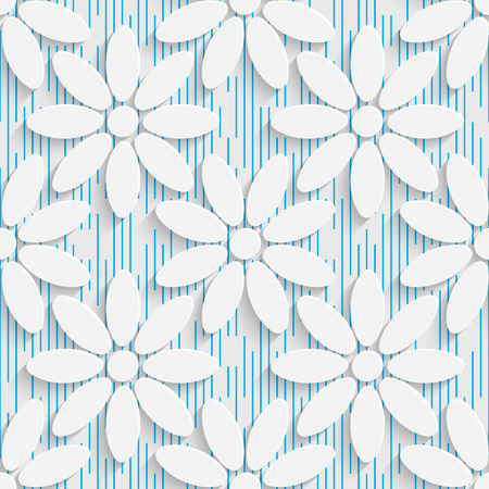 elegant wallpaper: Seamless Elegant Pattern. Abstract Three-dimensional Background. Modern Textile Wallpaper. White and Blue Art Design