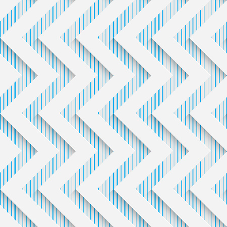 decorative wallpaper: Seamless Zigzag Pattern. Abstract Shapes Background. Modern Geometric Wallpaper. White and Blue Decorative Design Illustration