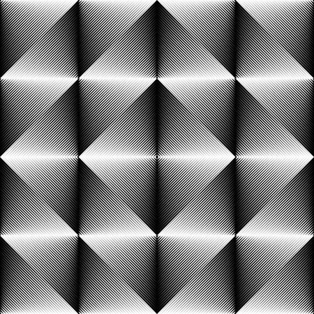 Motif géométrique sans couture. Texture de cristal noir et blanc vecteur. Répéter le fond du tissu dégradé. Conception minimale de vêtements monochromes