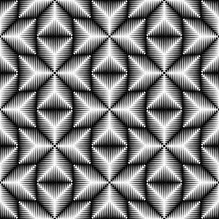 templars: Seamless 3d Cross Pattern. Abstract Black and White Stripe Background. Vector Geometric Regular Texture. Abstract Ancient Crusader Ornament Illustration