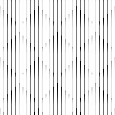 유행: 원활한 수직 라인 패턴. 벡터 흑백 마름모 배경입니다. 기하학적 줄무늬 장식. 최소 스트라이프 텍스처