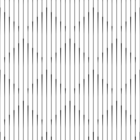 Seamless Vertical Line Pattern. Vector Monochrome Rhombus Background. Geometric striped ornament. Minimal Stripe Texture Illustration