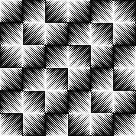Seamless Geometric Pattern. Vector Black and White Cloth Texture. Repeat Gradient Fabric Background. Minimal Monochrome Clothing Design Illustration