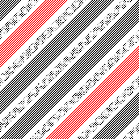 graphic texture: Seamless Stripe Pattern. Vector Line and Dots Texture. Red and Black Graphic Design