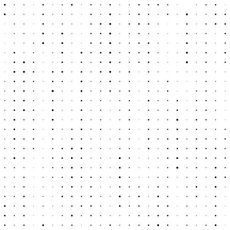 Seamless Stripe Pattern. Vector Monochrome Chaotic Texture. Fine Dots Background.