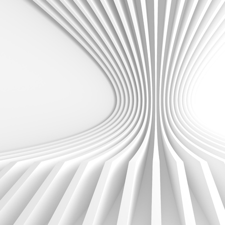 futuristic wallpaper: Abstract Architecture Background. 3d Illustration of White Circular Building. Modern Geometric Wallpaper. Futuristic Technology Design