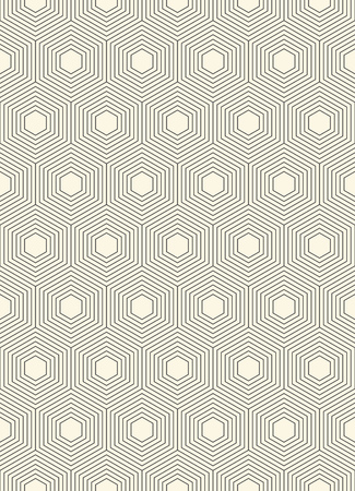 paper graphic: Seamless Hexagon Pattern.Abstract  Line Wrapping Paper Graphic Design. Vector Monochrome Background. Simple Modern Fabric Ornament