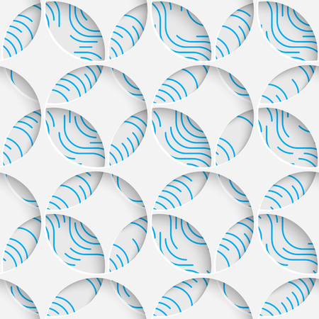 Seamless Geometric Pattern. Abstract Beautiful Background. Modern Symmetrical Wallpaper. 3d Decorative Design. Wrapping Paper Texture Illustration