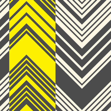 Seamless Stripe Pattern. Abstract Black and Yellow Zigzag Background. Vector Geometric Regular Texture. Abstract Minimal Fabric Design