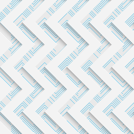 Seamless Mosaic Pattern. Abstract 3d Realistic Background. Modern Fine Wallpaper. White Fashion Design