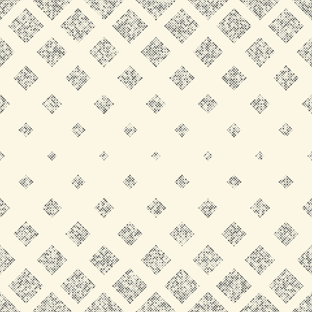 fine print: Seamless Squares Pattern. Abstract Monochrome Geometric Ornament. Vector Gradient Texture. Abstract Wrapping Paper Background Illustration