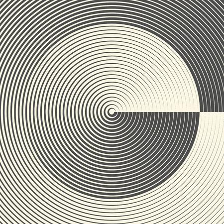Abstract Circle Pattern. Radar Screen Background. Vector CircularTexture
