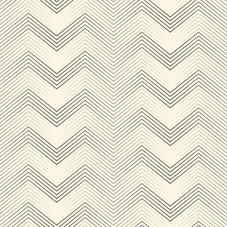 Seamless Zigzag Pattern. Abstract Black and White Stripe and Line Background. Vector Chevron Geometric Texture. Minimal Print Graphic Design