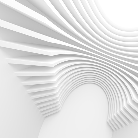 abstract white: White Architecture Circular Background. Abstract Interior Design. 3d Modern Architecture Render. Futuristic Building Construction. Creative Web Wallpaper