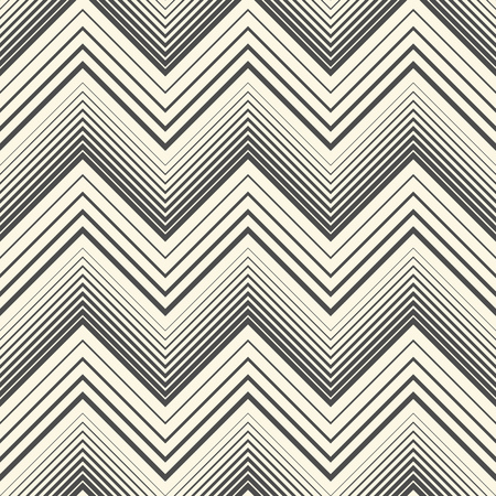Seamless Zig Zag Pattern. Abstract Black and White Background. Vector Line Texture. Minimal Geometric Graphic Design