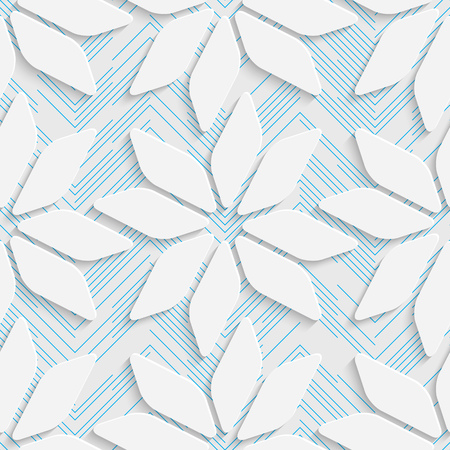 Seamless Contemporary Pattern. Abstract Web Background. Modern Stylize Wallpaper. 3d Tech Design. Wrapping Paper Texture Vector Illustration