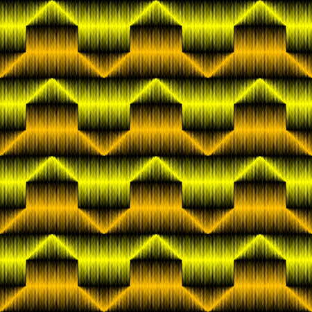 Abstract Zigzag Texture. Seamless Stripe Wallpaper. Vector Fabric Background