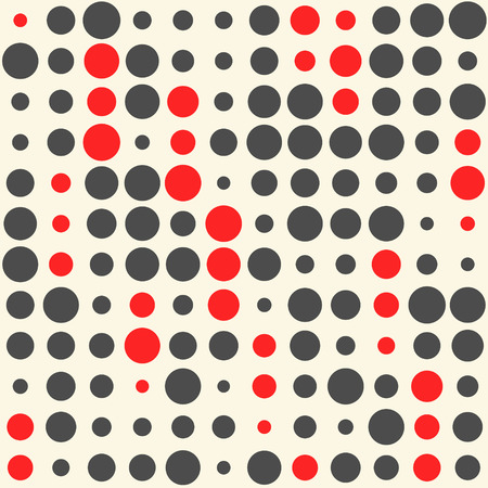 grid pattern: Seamless Circle Background. Vector Chaotic Texture. Abstract Black and Red Graphic Pattern
