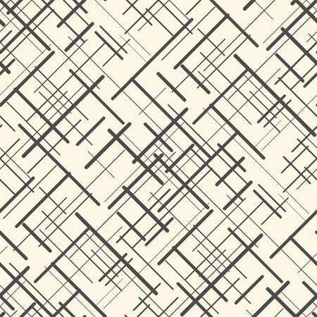 grid pattern: Seamless Chaotic Line Wallpaper. Abstract Geometric Texture. Vector Decorative Background