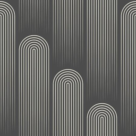 Seamless Stripe Wallpaper. Minimal Disco Graphic Design. Stylish Geometric Pattern