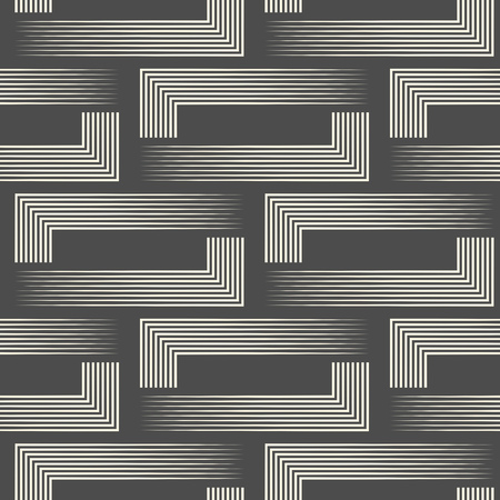 Seamless Geometric Design. Futuristic Ornament Background. Vector Regular Texture