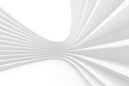 Rendu 3D du bâtiment circulaire blanc. Banque d'images