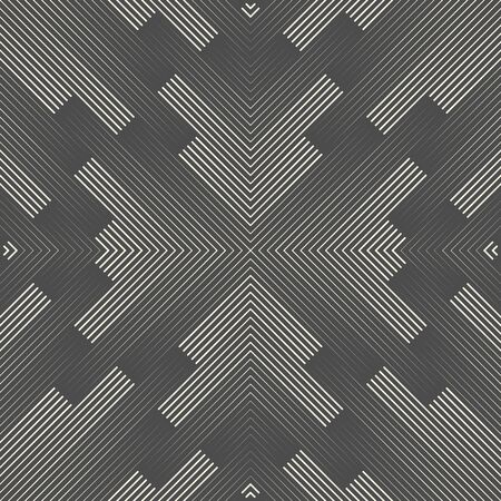 Seamless Star Pattern. Abstract Black and White Background. Regular Vector Texture Ilustração