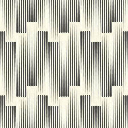 Seamless Vertical Line Pattern. Vector Black and White Striped Background. Wrapping Paper Texture. Abstract Minimal Geometric Graphic Design Ilustração