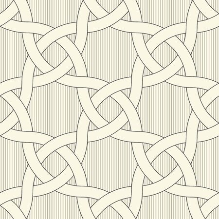 Seamless Oriental Ornament. Abstract Geometric Background. Vector Decorative Pattern