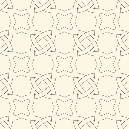 Seamless Arabic Ornament. Abstract Geometric Texture. Vector Decorative Pattern