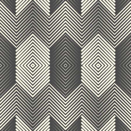 Seamless Ornament Background. Abstract Striped Wallpaper. Vector Fashion Design