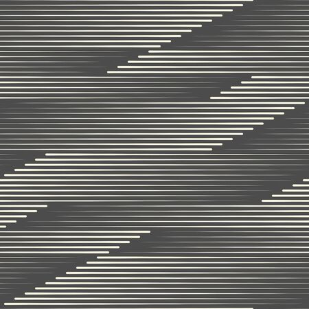 Seamless Horizontal Stripes Wallpaper. Decorative Fashion Pattern. Abstract Graphic Design Ilustração