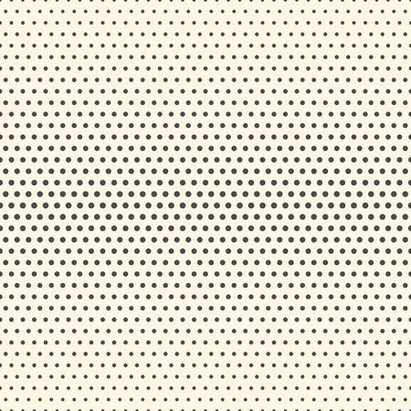 Seamless Halftone Pattern. Minimal Elegant Wallpaper. Vector Monochrome Texture