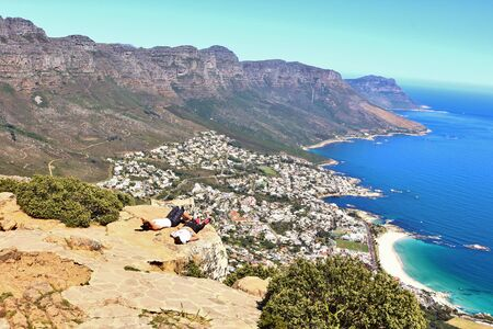 Beautiful South African Coastline near Cape Town. Photo taken from Lion's Head near Cape Town in South Africa.