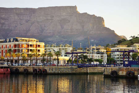 Wharf at Cape Town City Center in the Sunset