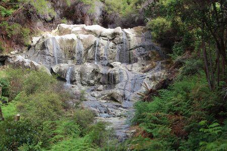 Scenic Kakahi Falls waterfall in New Zealand Фото со стока