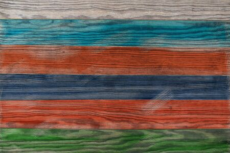 Old wooden wall background, Pattern of old wood that has been painted.