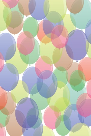yellow adventure: Many-colored ballons fly air in seamless pattern