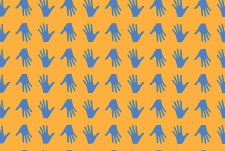 hallow: hand yellow orange texture many hands background pattern fingers