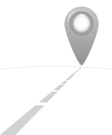 somewhere: Road to somewhere as map isolated on a white background Illustration