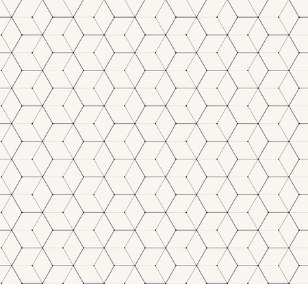 Hexagons gray vector simple seamless pattern background