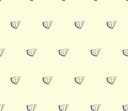 margherita: pizza seamless pattern, modern background simple slice Illustration