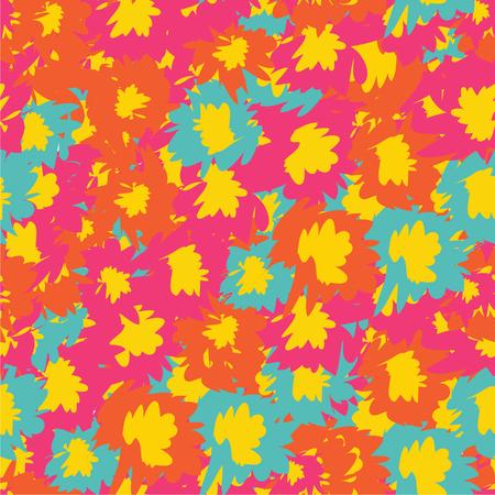 motif sans vecteur avec des fleurs tropicales. Éléments botaniques graphiques colorés détaillés