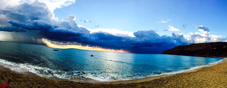 Storm coming from the sea