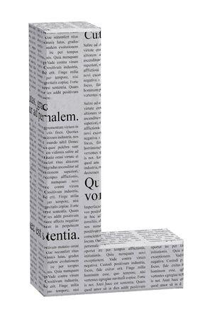 3D LETTER RENDER JOURNAL Standard-Bild