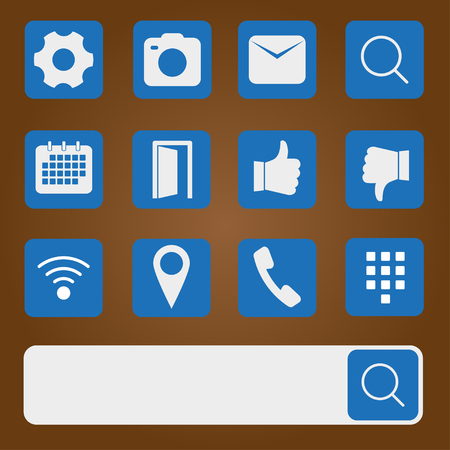 Icons for apps. Vector illustration.